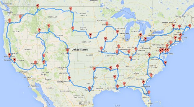ultimate roadschool roadtrip map of the USA