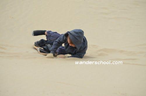 homeschool sandboarding kids