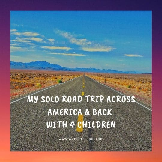 solo road trip across america USA tour with children