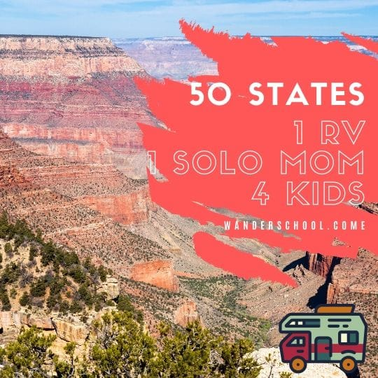 50 states roadtrip RV motorhome Mom kids children