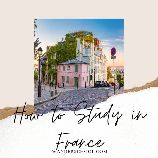 how to study or go to university in france