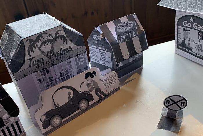 paper mini village mini town free printables