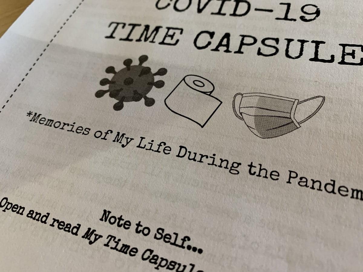 Free Covid 19 Printable Time Capsule Journal For Teens Older Students Wanderschool