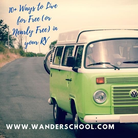 ways to live for free in your RV or camper van