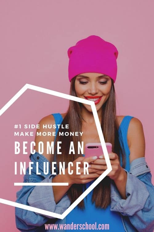 become an influencer side hustle