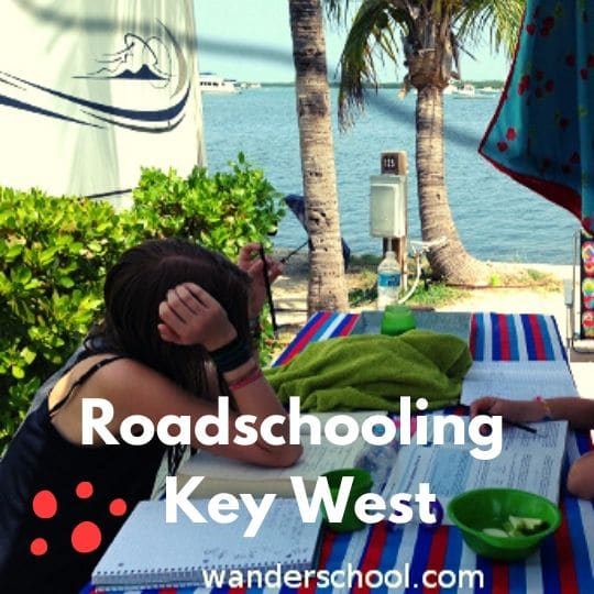 roadschooling life in key west full-time RV living