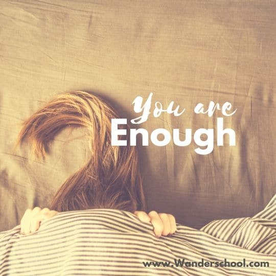 you are enough inspirational quote self care