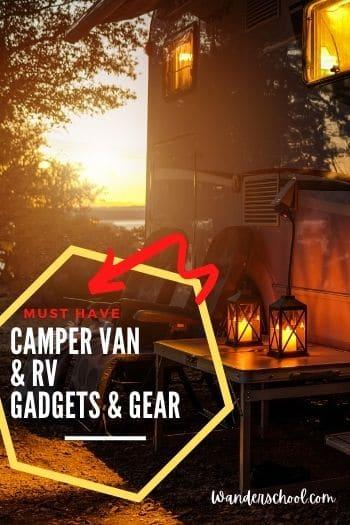 camper van gadgets rv life