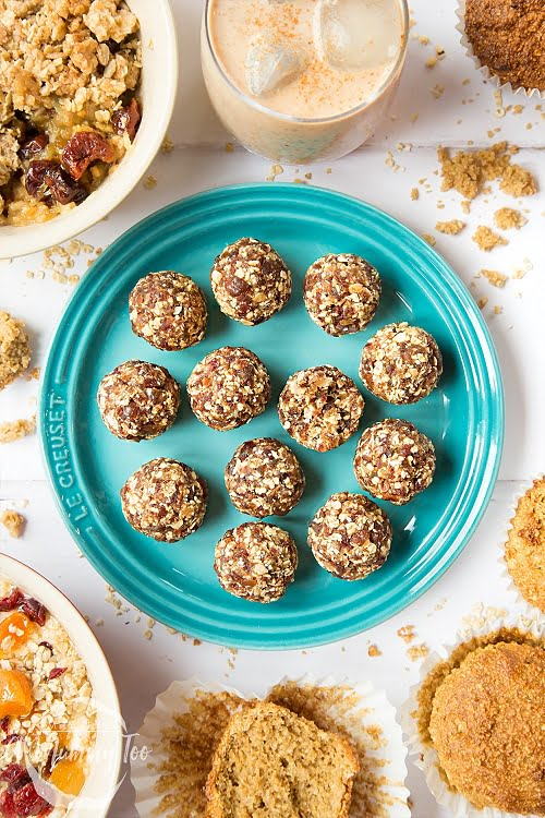 two ingredient energy ball hiking snacks recipe