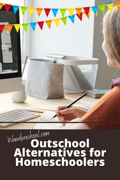 outschool alternatives for homeschoolers pin
