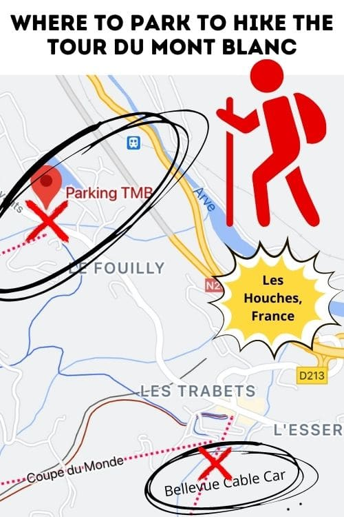 frequently asked questions about hiking the tour du mont blanc, including where to park your car in les houches