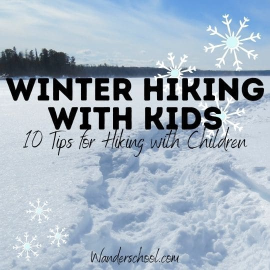 winter hiking with kids children tips