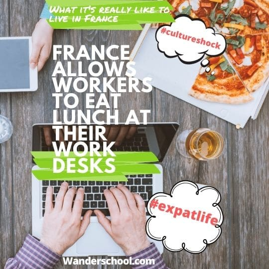 france allows workers to eat lunch at their work desks covid