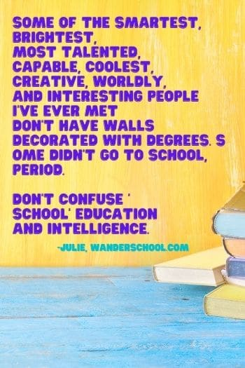 are homeschoolers smarter or school children because they went to school