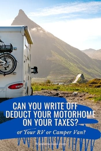 can your write off or deduct your rv on your taxes _ pin