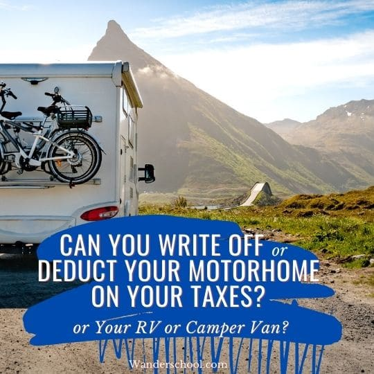 can you write off your motorhome on your taxes