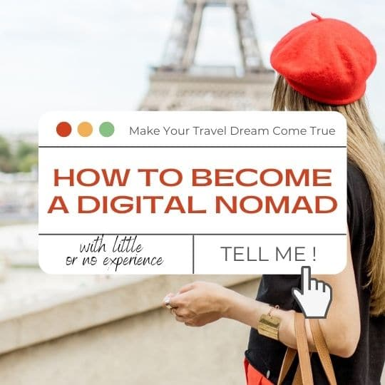 how to become a digital nomad with little or no experience
