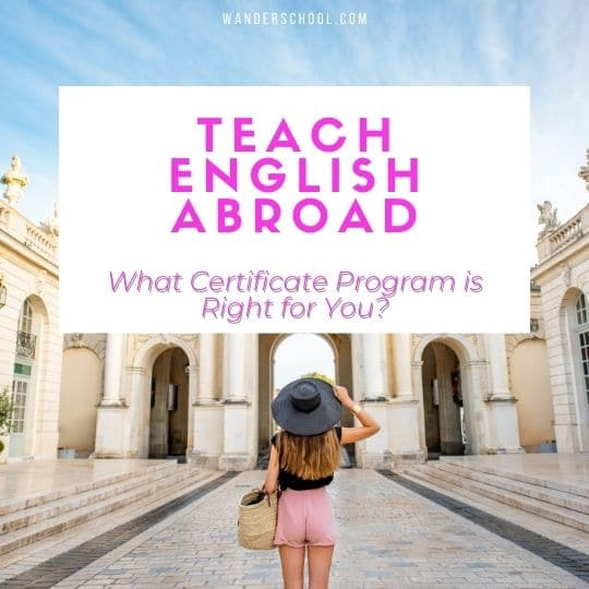 teach english abroad certificate programs