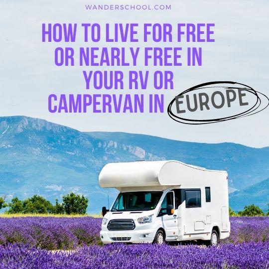free rv camping europe
